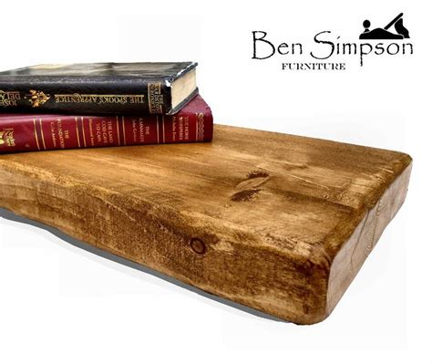 chunky wooden rustic solid floating shelf shelves mantel