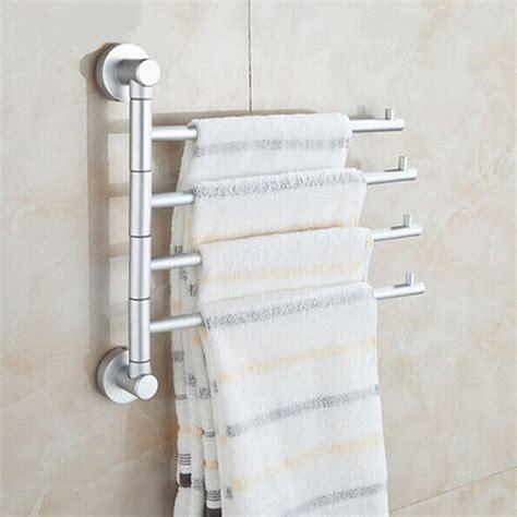 solid space aluminium wall mounted bathroom 4 bars