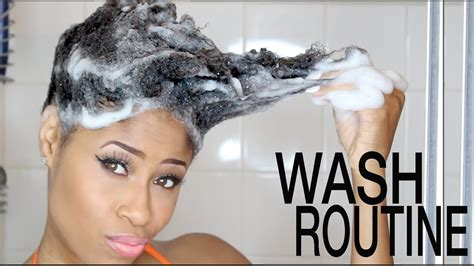 natural hair wash day routine start finish youtube