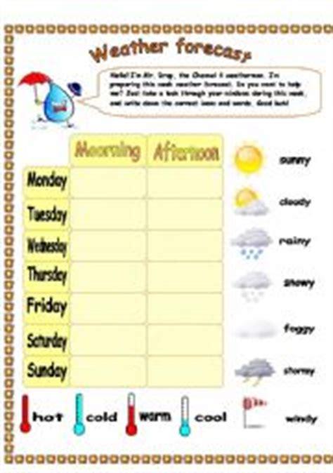 weather worksheet 340 weather forecast worksheet