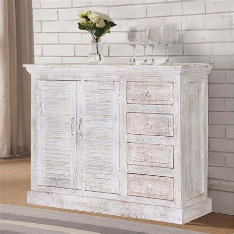 ohio rustic white weathered finish 2 door 4