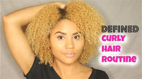 defined curly hair routine wash curlsfothegirls youtube