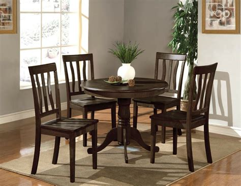 5pc dinette kitchen dining set table 4 wood