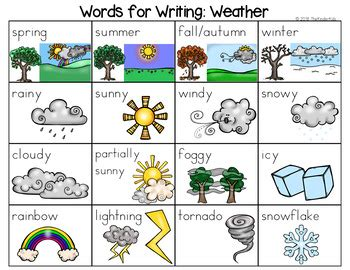 weather word list writing center weather words writing