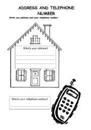 address worksheets