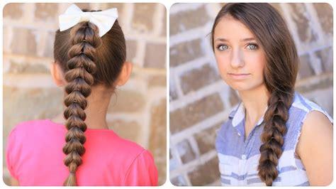 create pull braid easy braided hairstyles youtube