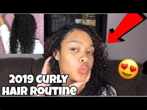 2019 wash curly hair routine youtube