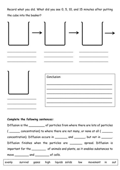 diffusion worksheet tessbamber teaching resources tes