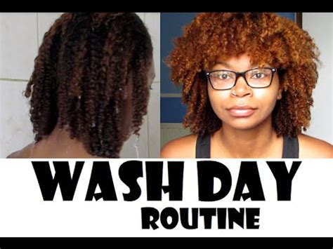 wash day routine natural hair melfacemish youtube