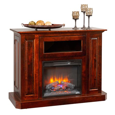 deluxe fireplace entertainment center amish furniture