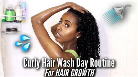 curly hair wash day routine hair growth natural
