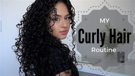 curly hair routine youtube