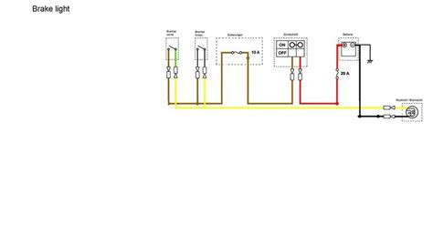 brake light section simplified wiring diagram motorcycle wiring