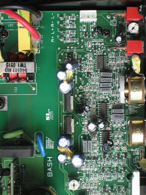 wrong subwoofer line filter circuit board