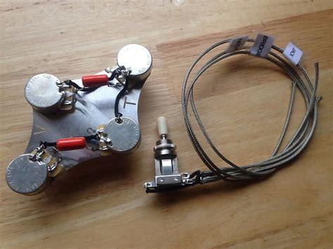 50 gibson les paul wiring harness 500k long