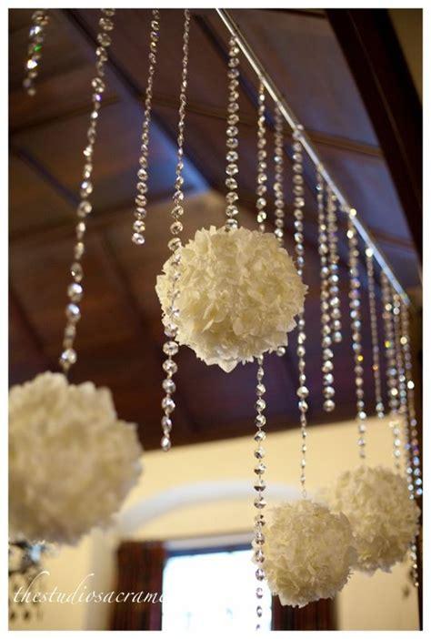 diy wedding entrance ideas garlands crystals free shipping