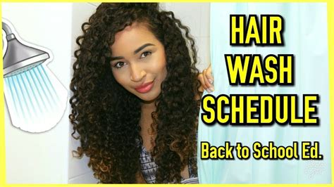 curly hair washing schedule leximarcella school edition youtube