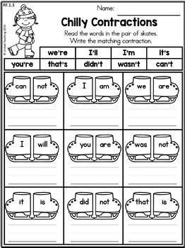 winter literacy worksheets 1st grade united teaching tpt