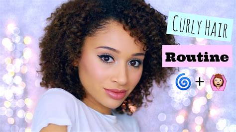 short curly hair routine youtube