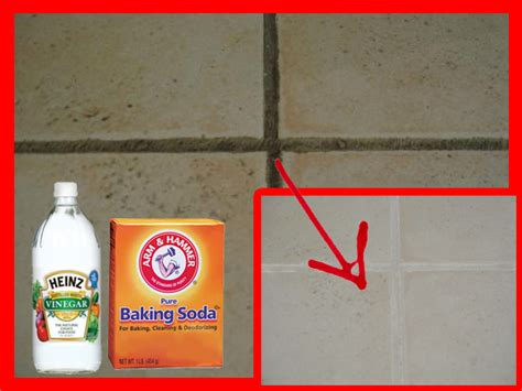 naturally clean grout tiles