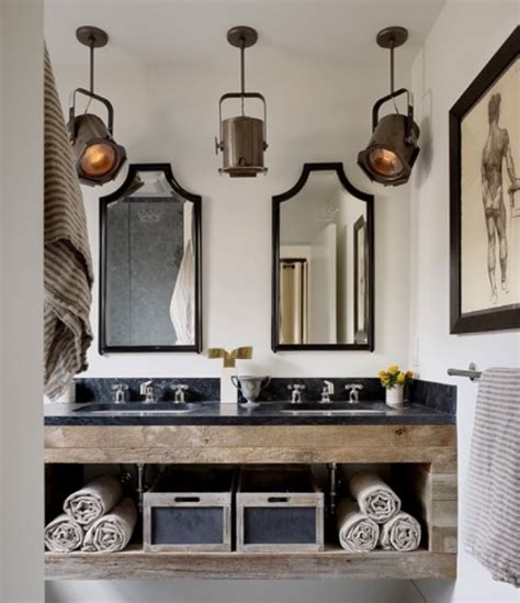 rustic bathroom lighting ideas home interiors