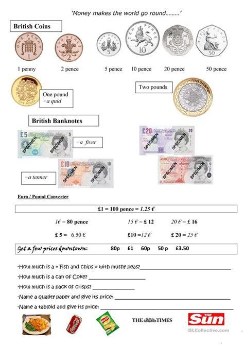 british money worksheet free esl printable worksheets teachers