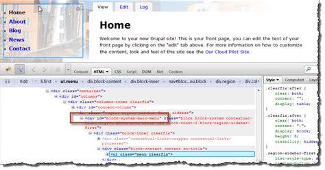 css injector module change site slogan block background