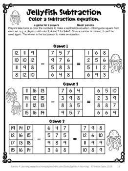 year math games grade year activities summer packet