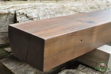 black walnut fireplace mantel beam davey tree antique