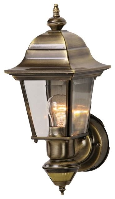country cottage artisan antique brass outdoor motion sensor