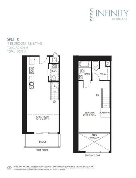 infinity brickell 1 bedroom lowest price square foot