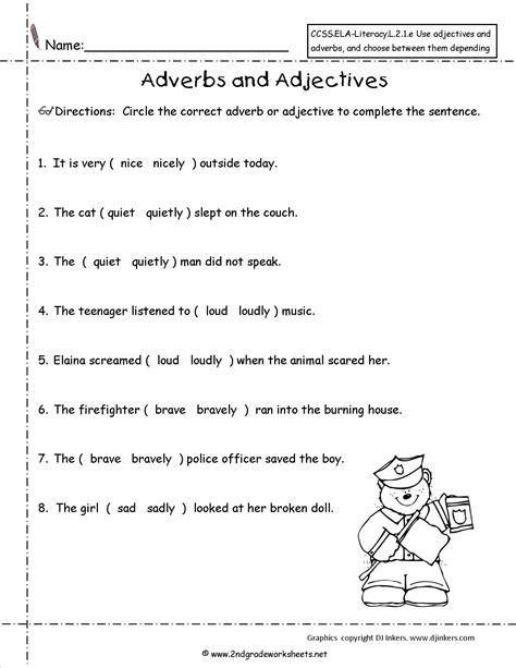 18 images adjectives worksheets grade 2 free adjective