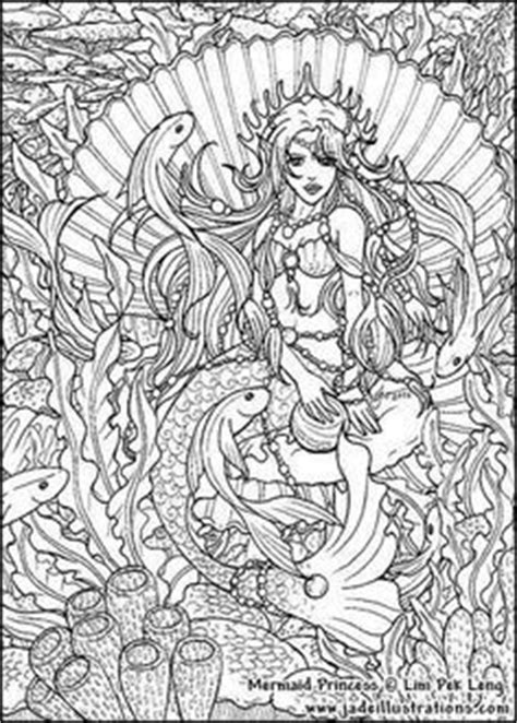 25 images mermaid adult coloring pages