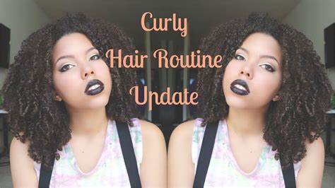 curly hair routine update youtube