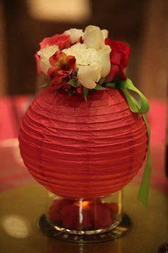 12 red paper lantern crisscross ribbing hanging decoration