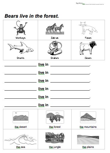 Animals And Their Habitats Worksheets For Grade 2.html