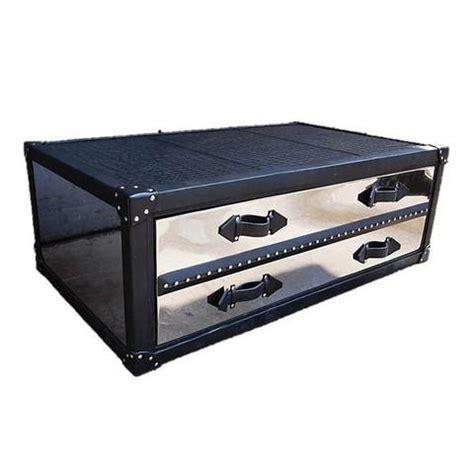 storage furniture mirrored trunk