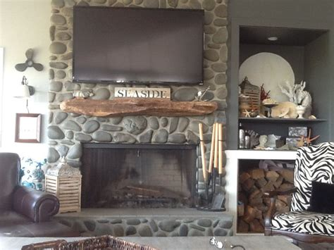 driftwood mantle add rustic accent homesfeed
