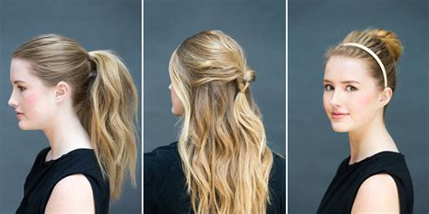 10 easy hairstyles 10 seconds diy hairstyles