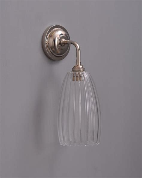 contemporary wall light ribbed upton glass shade sourcebook