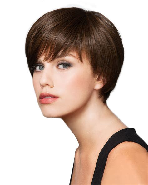 short sleek synthetic wig hair wig outlet