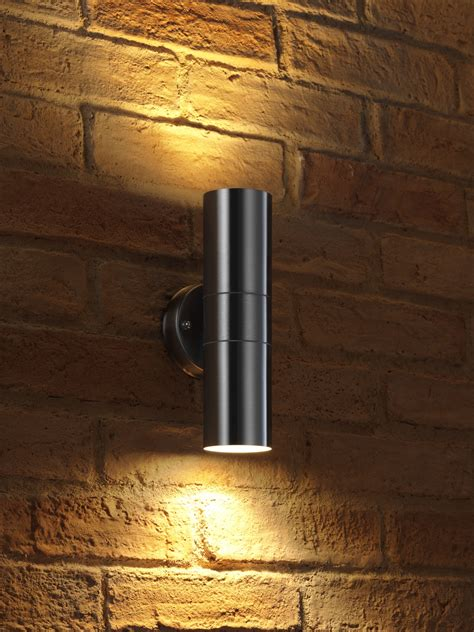 auraglow stainless steel double outdoor led colour changing