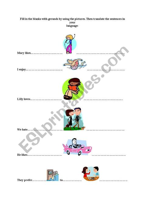 present simple tense likes dislikes esl worksheet tarbaby