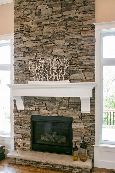 dry stacked stone fireplace design dennis stacked