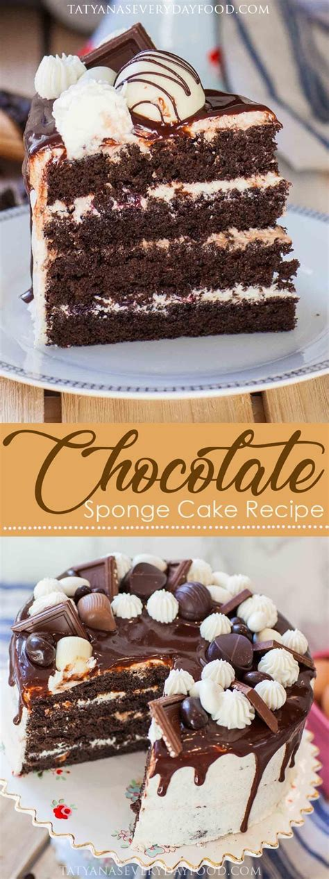 chocolate sponge cake recipe tatyanas everyday food foodrecipes