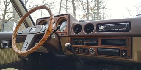 kind car interior hand built wood paneling