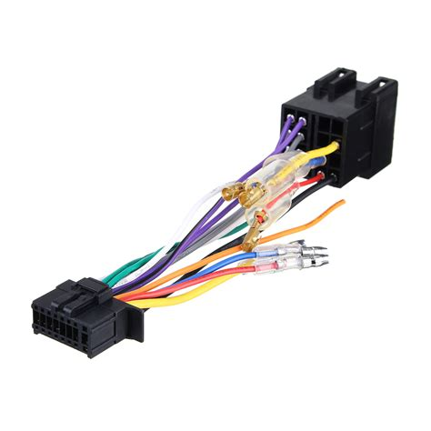 16pin car stereo radio wiring harness connector plug