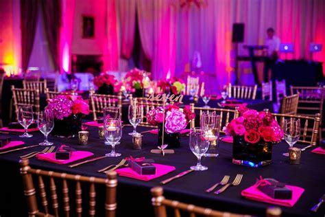 hot pink black wedding hibernian hall charleston sc