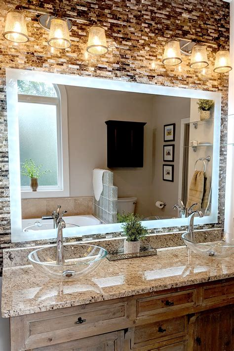 side lighted led bathroom vanity mirror 48 40
