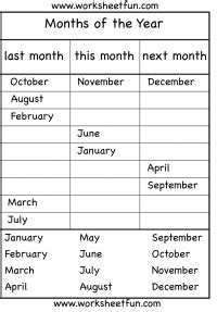 months year worksheet months year learning worksheets english